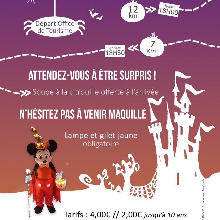 Affiche parcours hanté Halloween à Montargis